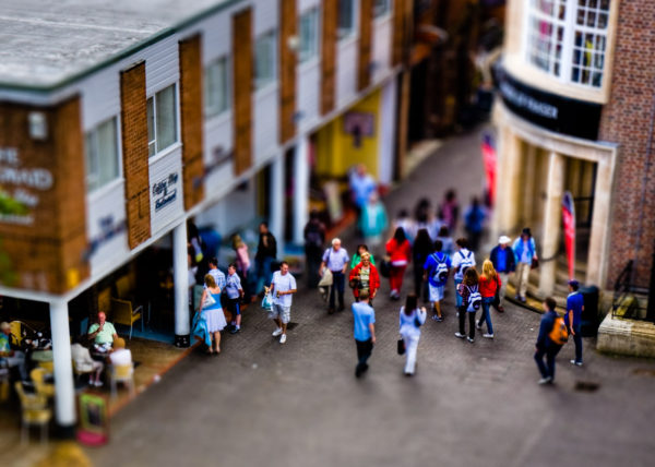 Exeter From Above, street photographer photography Herefordshire