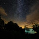Astrophotographer landscape, Hay-on-Wye, Powys, Wales, milky way galaxy camping 6663