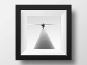 Paul Ligas Photography Print Wind Turbine in Black and White mock up