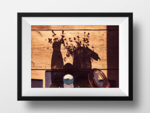 Paul Ligas Photography Print Shadow Still Life in Kitchen mock up