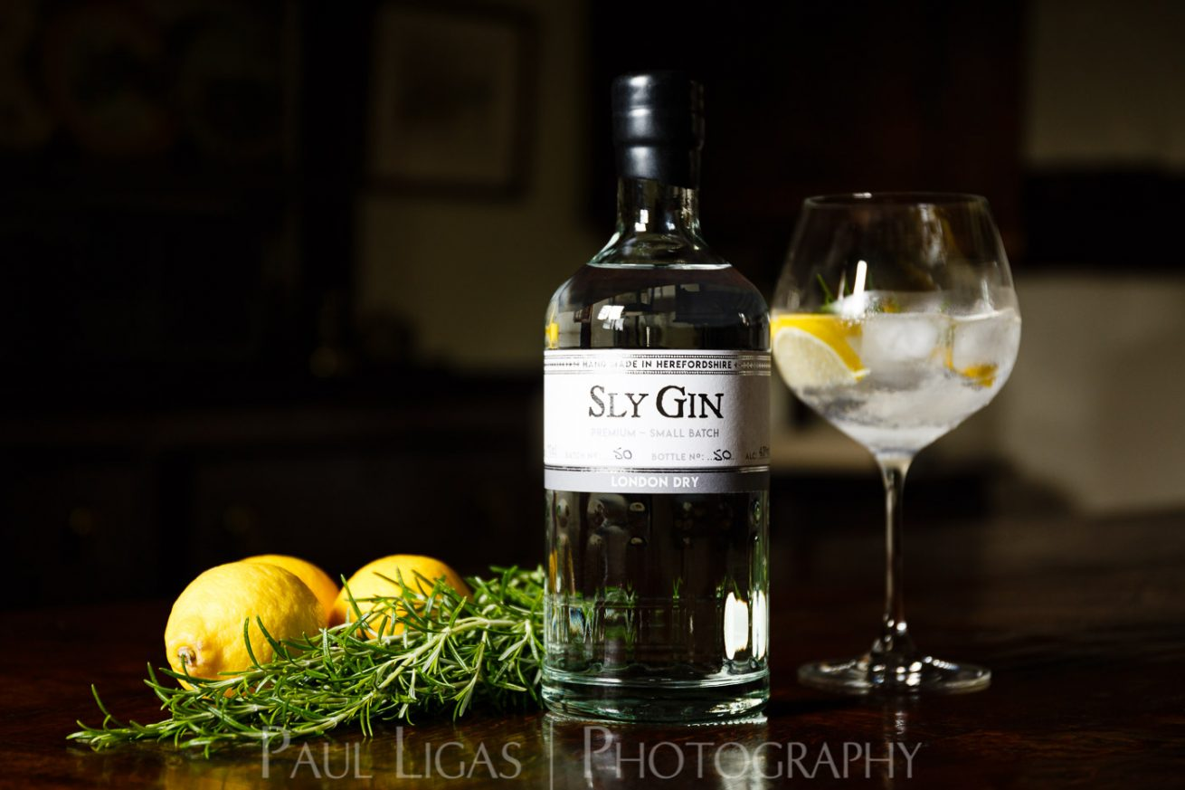 Haven Distillery Sly Gin Hereford product lifestyle photography photographer 5358