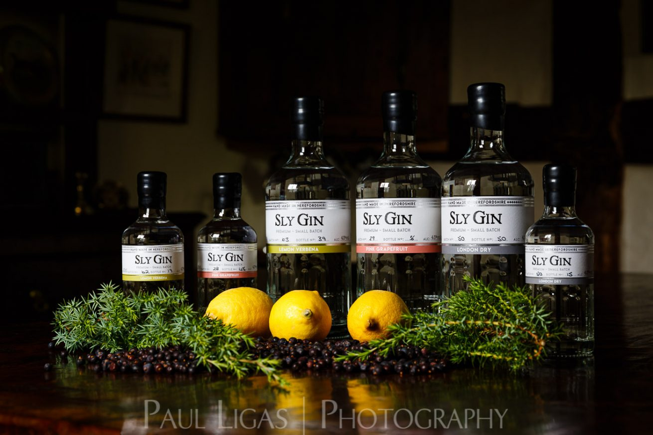 Haven Distillery Sly Gin Hereford product lifestyle photography photographer 5369