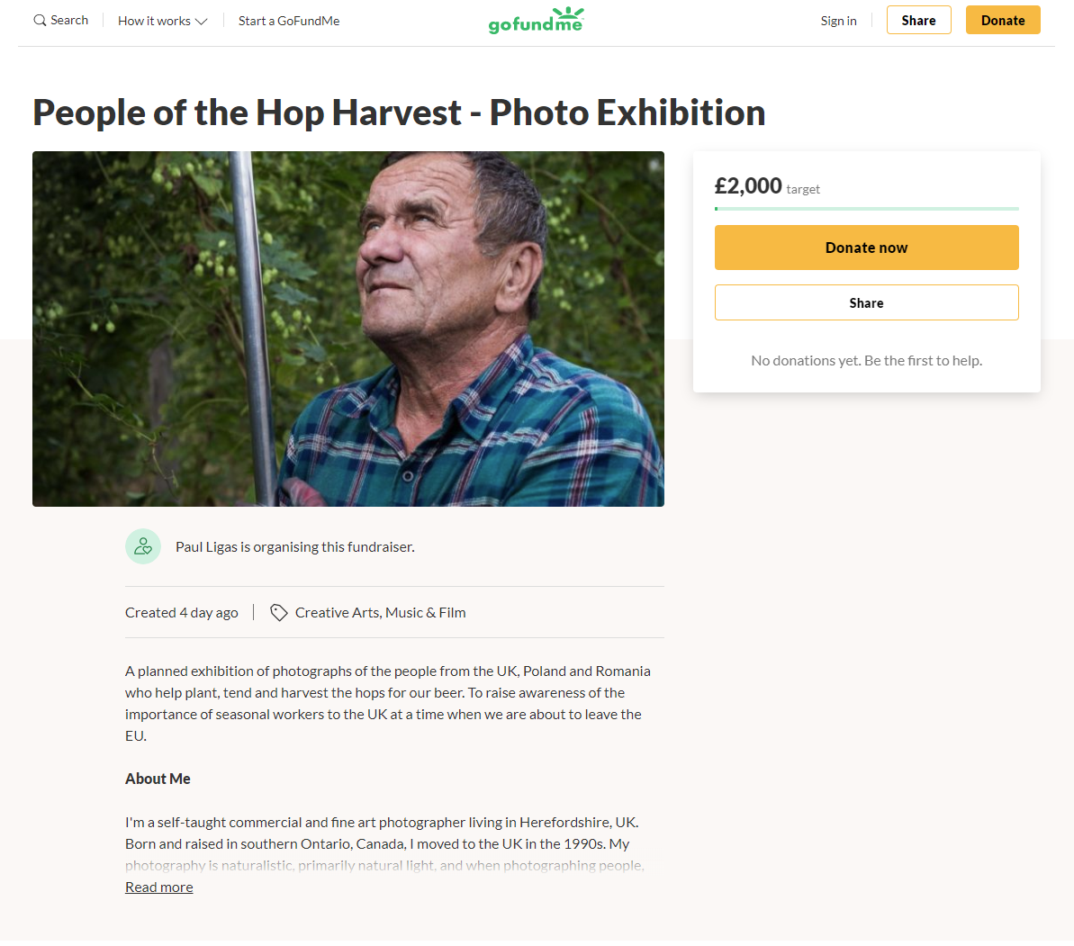 People of the Hop Harvest crowdfunding