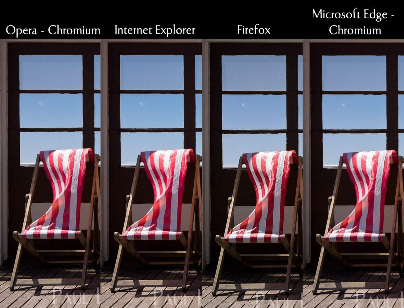 web browser colour comparison 2020