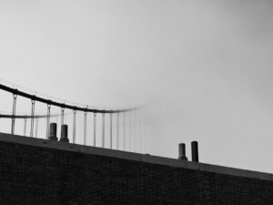 paul ligas photography print Fort Point and Golden Gate Bridge San Francisco in Fog